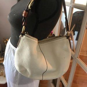 Coach  hobo leather offwhite shoulder bag